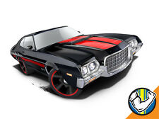 Hot Wheels Cars - '72 Ford Gran Torino Sport Black