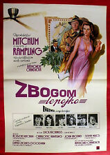 FAREWELL MY LOVELY 1975 ROBERT MITCHUM CHARLOTTE RAMPLING RARE EXYU MOVIE POSTER