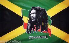 BOB MARLEY Jamaica 3 x 2 FLAG REGGAE RASTA RASTAFARIAN