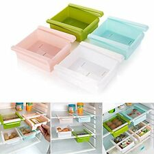 4 Pcs Multipurpose Slide Kitchen Fridge Space Saver Rack Storage Drawers Food