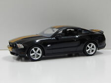 1:18 2010 Ford Mustang GT (Black with Gold Stripes) Greenlight 50824