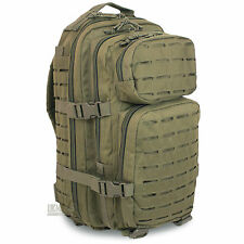 Mil-Tec Small Laser MOLLE Army Hiking Daysack Assault Pack Rucksack 20L Green