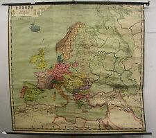 Schulwandkarte Wandkarte Europa Gaebler große Ausg. 1914 Deutsches Reich 191x180