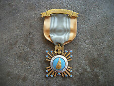 vintage Society of the Colonial Dames gold medal ribbon award pin DAR