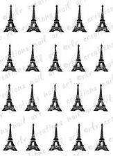 20 EIFFEL TOWER PARIS WATER SLIDE NAIL ART DECALS-  NAIL DECALS
