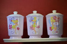 Walt Disney Tinker Bel  Ceramic Canister & Tray Set  #43834 Brand New