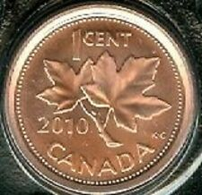 2010 Penny 1 One Cent '10 Canada-Canadian BU Coin UNC RCM - Mark - Non-Magnetic