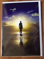 Antony Gormley's Another Place Iron Men Crosby Blank Greetings Card Free Postage