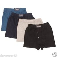 12 Pair Boys Children Boxer Shorts Cotton Button Fly Assorted Colors Age 6-13