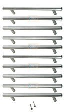 10 x 96mm Solid T BAR Handles Nickel Kitchen Cabinet Door Cupboard Drawer