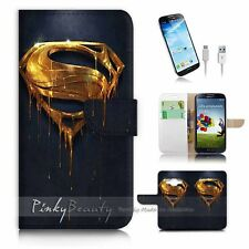 Samsung Galaxy Core Prime G360 Flip Wallet Case Cover! P0249 Superman
