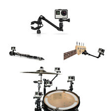 The Jam Adjustable Music Mount Guitar Drum Arm For GoPro Hero 5 4 3+ 2 Accessory