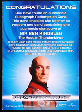 Thunderbirds The Movie: Sir Ben Kingsley Autograph REDEMPTION CARD