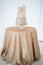 90'' Round Champagne Sequin Tablecloth,wholesale Wedding Christmas Sequin Table