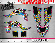 SCRUB MX DEKOR KIT ATV YAMAHA YFZ 450 2004-2014 GRAPHIC KIT E3611 B