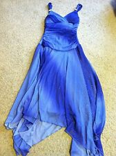 Stunning women's junior's size S Small Trixxi blue glitter party dress evening
