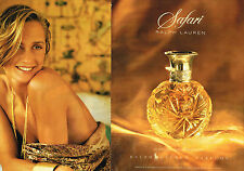 PUBLICITE ADVERTISING 024   1992   RALPH LAUREN  parfum SAFARI ( 2 pages)
