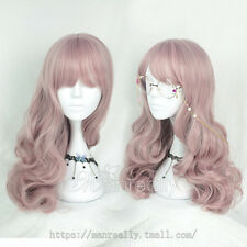 Princess Sweet Lolita Harajuku Cosplay Pink Gradient Wig Long Curly Hair#T23
