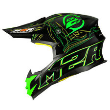 M2R X4 Legacy Elite MX Race PC-4 Kawasaki Green Black Helmet $399 Motorbike