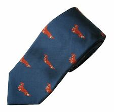 Dachshund Longhaired Necktie Dog Breed Mens Woven Silk Longhair Long Hair K9 Tie