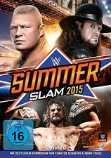 BROCK/CENA,JOHN/ORTON,RANDY THE UNDERTAKER/LESNAR - SUMMERSLAM 2015 2 DVD NEU