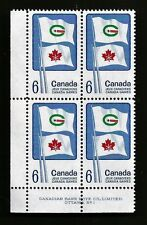 CANADA Canadian 6 SIX cent CANADA GAMES postage stamp block MNH PLATE 1