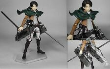 Shingeki no Kyojin Attack on Titan Levi Anime Manga Figuren Set H:15cm Neu