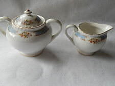 Vintage Double Phoenix NKT Ironstone Creamer & Sugar Bowl with Lid