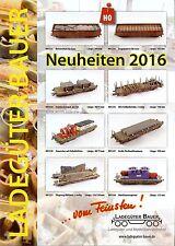 Ladegüter Bauer 2016 Neuheitenprospekt Ladegüter vor Modellbahnen und -LKW