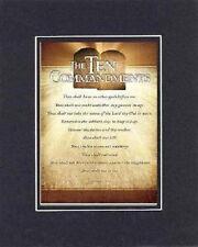 For Heartfelt Inspirations - The Ten Commandments . . . 8 x 10 Religious Plaque