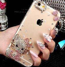 Bling Clear Crystal Diamond Gel Soft TPU back Ultra-thin Phone Case Cover Skin 2