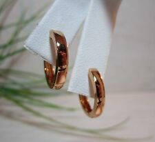 Mens/Unisex Mr.Clean Inspired 17mm x 3mm14kYellow Gold Filled Snap Hoop Earrings