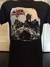 Vtg. 88 Lizzy Borden Menace Tour Shirt Sz S/M Saint Rock Priest Metal Metallica
