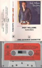 ANDY WILLIANS Love Story RARE SPANISH CASSETTE  paper label