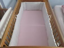 Cushi cots cot bed bumper boys full wrap white and grey stars new