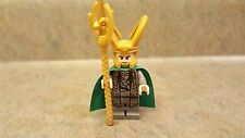 Lego Loki minifigure with scepter
