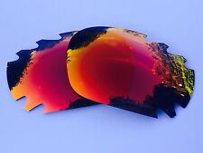 REPLACEMENT ENGRAVED POLARIZED FIRE RED MIRROR VENTED OAKLEY JAWBONE LENSES