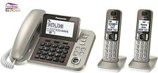 Panasonic Corded Cordless Phone 2 Handset Answering Machine System Home Office