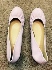 J Crew Cece Italian Made Lavender Leather Flats Womens Sz 11