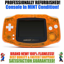 *NEW GLASS SCREEN* Nintendo Game Boy Advance GBA Clear Orange System MINT NEW