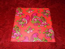 VTG CHRISTMAS WRAPPING PAPER GIFT WRAP 1960 RETRO CORNUCOPIA PINK & GREEN GROOVY