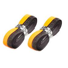 2 x Karakal Super DUO PU Replacement Grips Orange/Black  Tennis Squash
