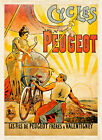 Peugeot Cycles A1 Vintage Poster High Quality Canvas Art Print