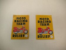 VINTAGE MOTO RACING TEAM RELIEF COLLECTIBLE MOTORCYCLE COX INTERNATIONAL