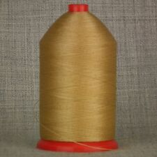 STRONG 60s BONDED NYLON 1,000mtr SPOOL SEWING THREAD TAN BROWN LEATHER CRAFTS