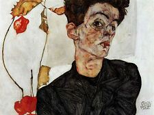 EGON SCHIELE SELF PORTRAIT OLD MASTER ART PAINTING POSTER ART 835OMLV