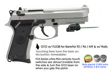 ArmaLaser GTO for Beretta 92 96 M9 w/Rails GREEN Laser Sight w/FLX38 Touch Grip