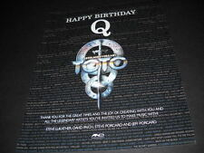 TOTO sends Birthday greetings to QUINCY JONES 2013 Promo Display Ad