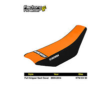 2009-2014 KTM SX 50 FULL GRIPPER SEAT COVER Black/Orange by Enjoy MFG