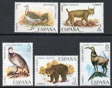SPAGNA Gomma integra, non linguellato 1971 sg2094/98 Fauna SPAGNOLO